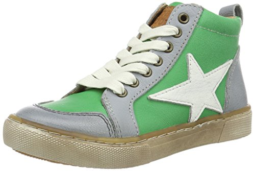 Bisgaard Unisex-Kinder Schnürschuhe High-Top, Grün (1001 Green), 30 EU
