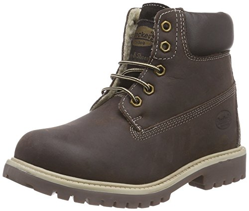 Dockers by Gerli 35FN701-400320, Unisex-Kinder Combat Boots, Braun (Cafe 320), 38 EU