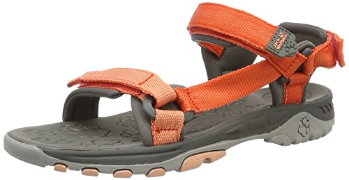 Jack Wolfskin Unisex-Kinder Kids Seven Seas Sport-& Outdoor Sandalen, Orange (Hot Coral), 31 EU