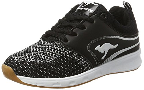 KangaROOS Unisex-Kinder Ron I Low-Top, Schwarz (Black/White), 35 EU