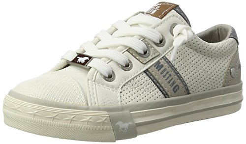 Mustang Unisex-Kinder 5024-302-1 Low-Top, Weiß (1 Weiß), 37 EU