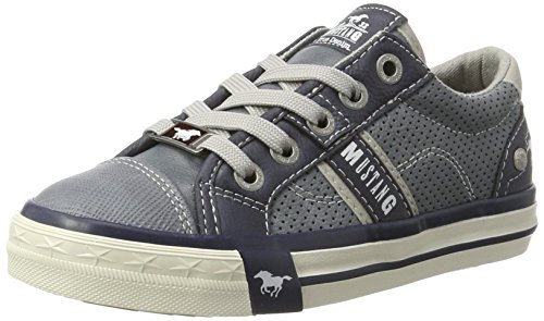 Mustang Unisex-Kinder 5024-302 Low-Top, Blau (875 Sky), 34 EU