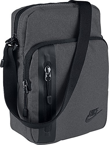 Nike Tech S Items Schultertasche, Dark Grey/Black, 24 x 16 x 6.5 cm, 3 Liter
