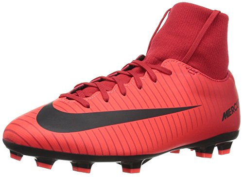 Nike Unisex-Kinder Jr. Mercurial Victory VI Dynamic Fit FG Fußballschuhe, Mehrfarbig (University Red/Black-Bright CR), 36 EU