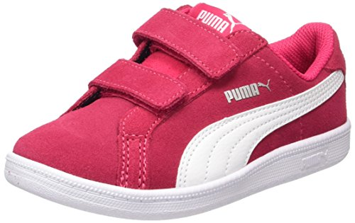Puma Unisex-Kinder Smash Funsd V PS Sneaker, Pink (Love Potion-White), 29 EU