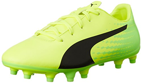 Puma Unisex-Kinder evoSPEED 17.5 FG Jr Fußballschuhe, Gelb (Safety Yellow Black-Green Gecko 01), 35 EU