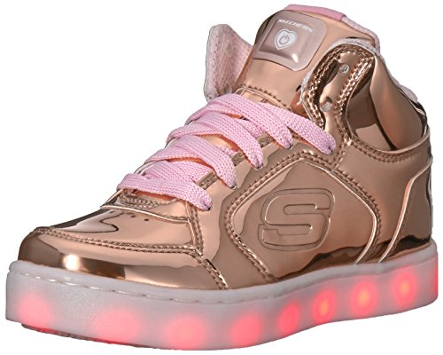 Skechers Mädchen Energy Lights Sneaker, Pink (Rose Gold), 36 EU