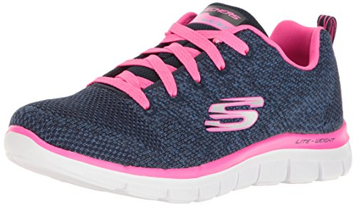 Skechers Mädchen Skech Appeal 2.0-High Energy Sneaker, Blau (Navy/Hot Pink), 35 EU