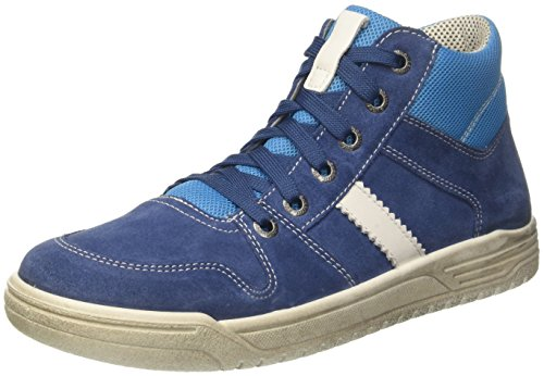 Superfit Jungen Earth Hohe Sneaker, Blau (Water Kombi), 32 EU