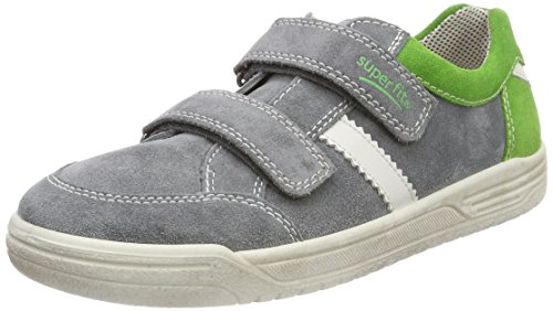 Superfit Jungen Earth Sneaker, Grau (Smoke Kombi), 26 EU