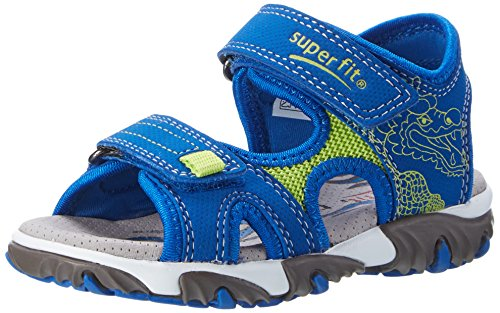 Superfit Jungen Mike 2 Sandalen, Blau (Water Kombi), 28 EU