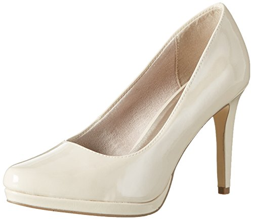 Tamaris Damen 22448 Pumps, Beige (Cream Patent 452), 38 EU