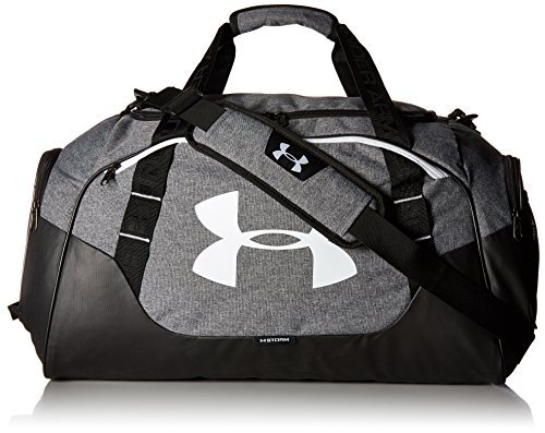 Under Armour Unisex UA Undeniable Duffle 3.0 MD SPorttasche, 65 x 30 x 35 cm, graphite-Weiß