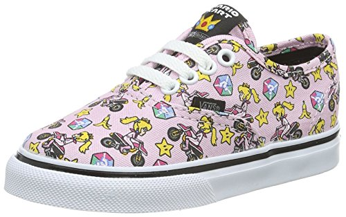 Vans Unisex Baby Authentic Lauflernschuhe, Pink ((Nintendo) Princess Peach/Motorcycle), 25 EU