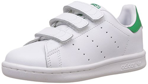 adidas Originals Stan Smith CF, Unisex-Kinder Sneakers, Weiß (Ftwr White/Ftwr White/Green), 28 EU (10.5 Kinder UK)