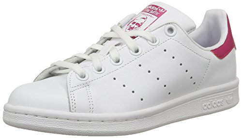 adidas Originals Stan Smith, Mädchen Sneakers, Weiß (Ftwr White/Ftwr White/Bold Pink), 38 2/3 EU (5.5 Kinder UK)
