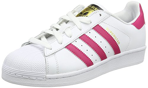 adidas Originals Superstar Foundation, Mädchen Sneakers, Weiß (Ftwr White/Bold Pink/Ftwr White), 36 EU (3.5 Kinder UK)