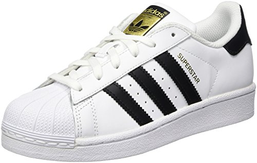 adidas Originals Superstar, Unisex-Kinder Sneakers, Weiß (Ftwr White/Core Black/Ftwr White), 36 2/3 EU (4 Kinder UK)