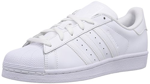adidas Superstar Foundation, Unisex-Kinder Sneakers, Weiß (Ftwr White/Ftwr White/Ftwr White), 36 EU (3.5 Kinder UK)