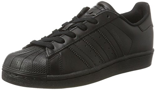 adidas Unisex-Kinder Superstar Foundation Sneaker, Schwarz (Core Black), 38 EU
