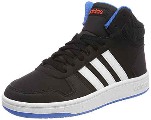 adidas Unisex-Kinder Vs Hoops Mid 2.0 Gymnastikschuhe, Mehrfarbig (Core Black/Ftwr White/Bright Blue), 39 1/3 EU