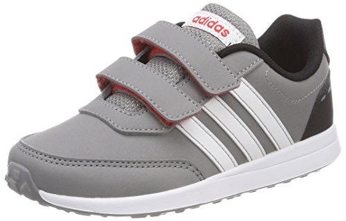 adidas Unisex-Kinder Vs Switch 2 CMF Sneaker, Grau (Grey Three/Footwear White/Core Black), 32 EU