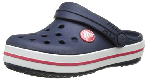 crocs Crocband Clog Kids, Unisex-Kinder Clogs, Blau (Navy/Red), 27-28 EU (C10 UK)