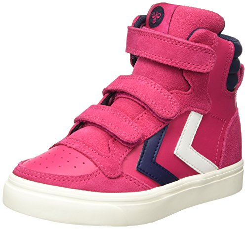 hummel Mädchen Stadil Leather JR Hohe Sneaker, Pink (Bright Rose), 26 EU
