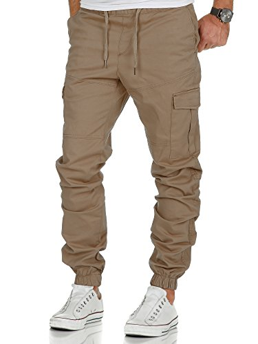 Amaci&Sons Herren Stretch Jogger Cargo Chino Jeans Hose 7006