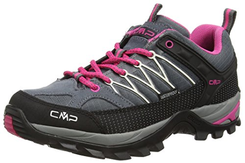 CMP Rigel 3Q54456 Damen Low Trekking Schuhe WP, Grau (Grey-Fuxia-Ice 103Q), 40 EU