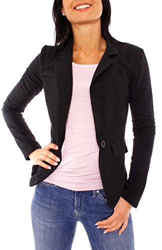 Easy Young Fashion Damen Jerseyblazer Ungefüttert