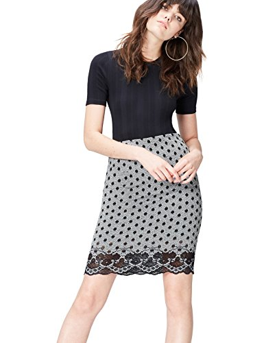 FIND Damen Rock Lace Hem Spot
