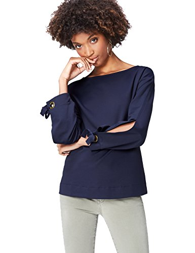 FIND Damen Sweatshirt Tie Sleeve