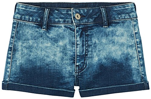 FIND Shorts Damen Jeansshorts mit Acid-Wash