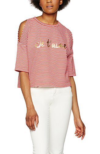 FIND Sweatshirt Damen Off-Shoulder-Design und Je-t'aime-Print