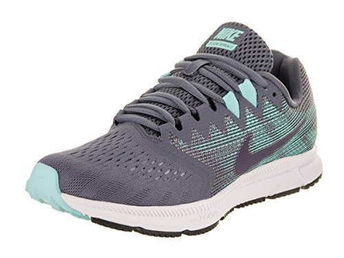 Nike Damen Zoom Span 2 Laufschuhe, Grau (Light Carbon/Dark Raisin-Aurora), 39 EU