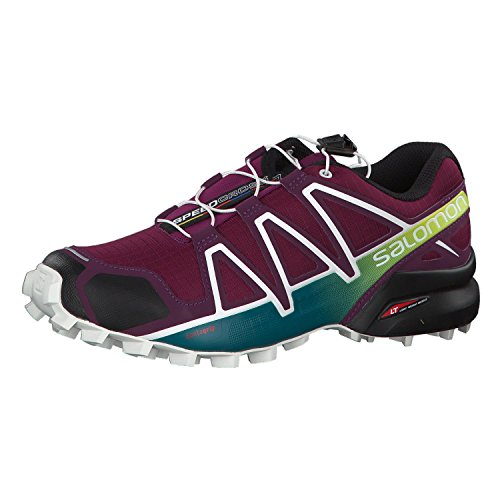 Salomon Damen Speedcross 4 W Traillaufschuhe, Dunkelviolett (Dark Purple/White/Deep Lake 000), 40 2/3 EU