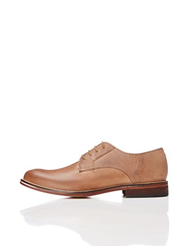 1034844733 1 - FIND Herren Derby-Schuhe, Braun (Chocolate), 42 EU