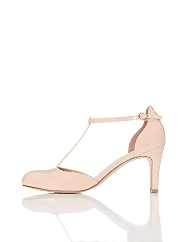 FIND Damen Mary Jane-Schuhe, Pink (Nude), 39 EU