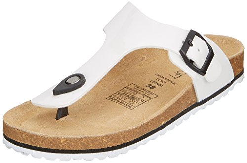 Supersoft Damen 274 513 Pantoffeln, Weiß (White), 37 EU