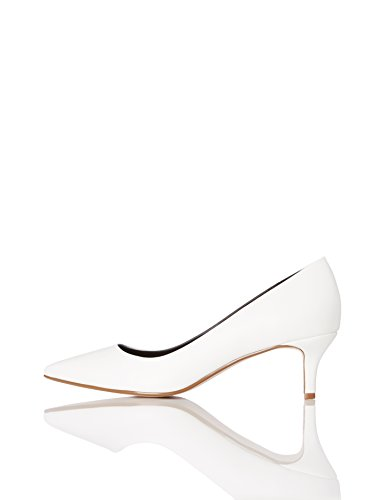 FIND Damen Pumps mit Kitten-Heels, Weiß (White), 38 EU