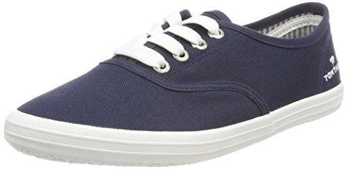TOM TAILOR Damen 4892401 Bootsschuhe, Blau (Navy), 40 EU
