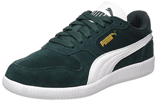 Puma Unisex-Erwachsene Icra Trainer SD Low-Top, Grün (Green Gables-White), 40 EU