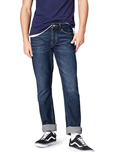 FIND Straight Fit Jeans Herren mit geradem Bein Acid-Wash