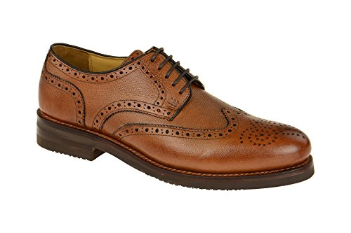 Gordon & Bros Levet 2318 XL Rahmengenähter Herren Derby Schnürhalbschuh, Full Brogue, XL extralight Gummi Sohle für Business, Freizeit, Goodyear welted