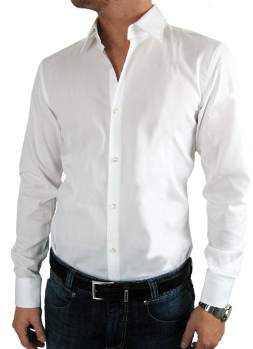 HUGO BOSS Business-Hemd | Enzo ( Regular Fit ) weiß/white 100% Cotton