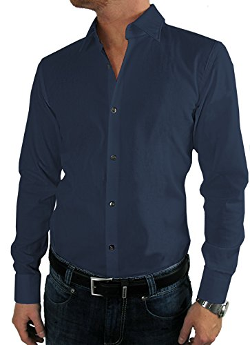 HUGO BOSS Business-Hemd | Jenno ( Slim Fit ) dunkelblau / dark blue