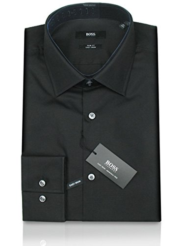 HUGO BOSS Business-Hemd | Jenno ( Slim Fit ) schwarz / black