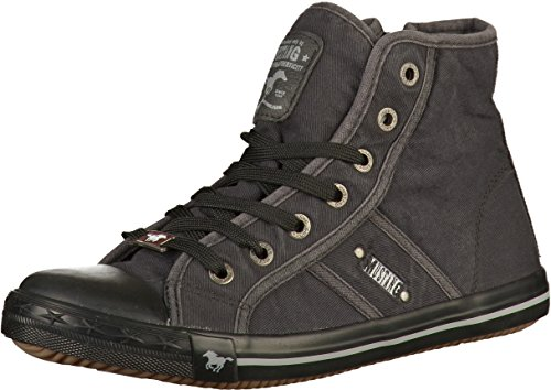 Mustang Damen High Top Sneaker Dunkelgrau