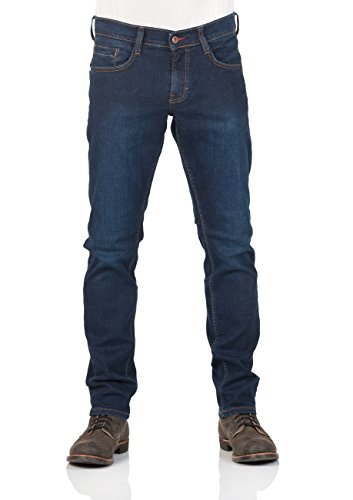 Mustang Herren Jeans Oregon - Tapered Fit - Blau - Light Blue - Dark Blue, Größe:W 38 L 34, Farbe:Dark Blue (881)